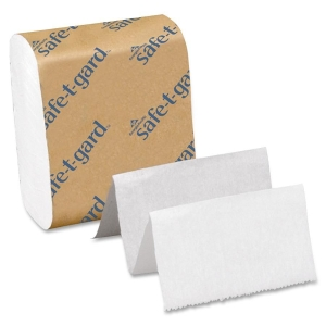 "Georgia-Pacific Safe-T-Gard Interfolded Tissue, 200 Per Pack - 4"" x 10"" - White"