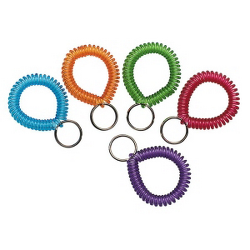 MMF Wrist Cool Coil Key Ring, Plastic - 1 Each - Assorted