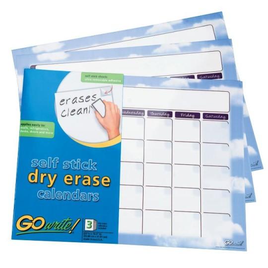 Dry Erase Calendar Staples : Opentip gowrite dry erase calendar