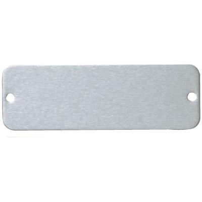 "Seton 42270 Blank Nameplates, Size: 2-1/8""W x 11/16""H, Material: Aluminum"