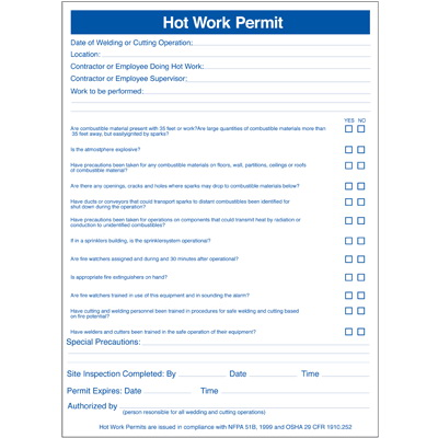 hot work permit template free seton permits pad hot work permits 67953