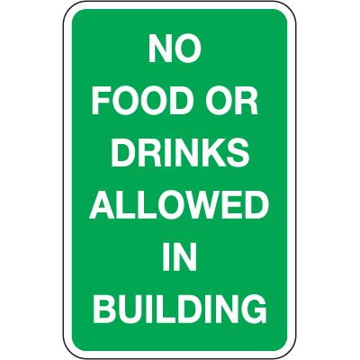 Seton 92409 trash signs no food or drink - Plaque adhesive cuisine ...