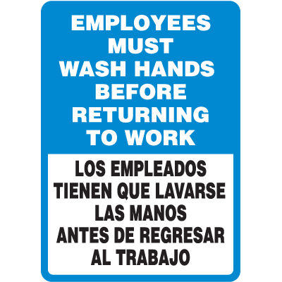 employees must wash hands before returning to work pdf