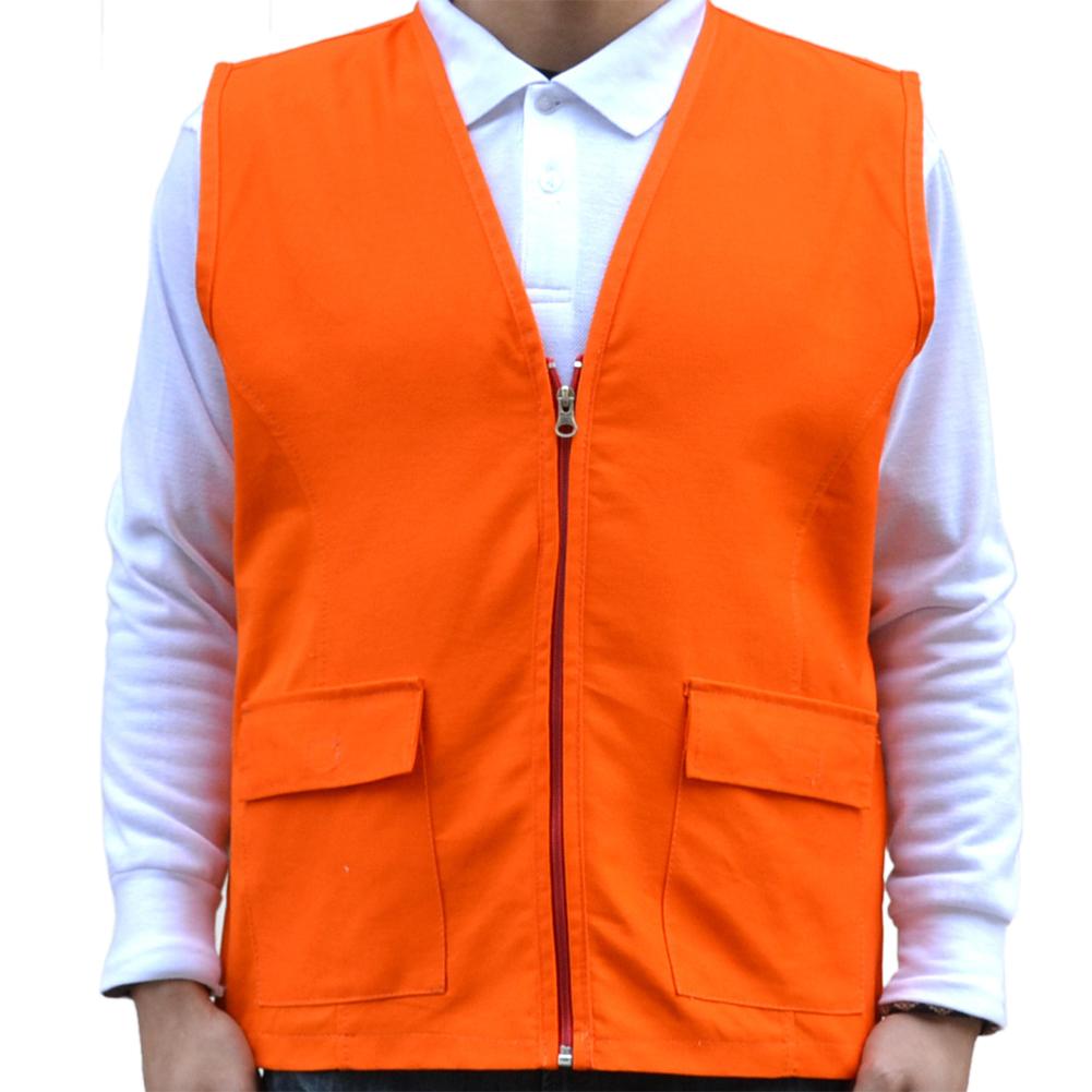 Toptie v neck vest workwear uniform zip front for Travel shirts with zipper pockets