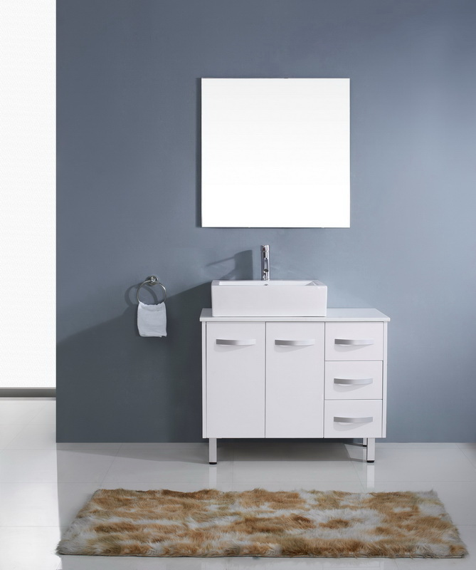 Virtu Usa Um 3069 S Wh 001 Ultra Modern Series 36 Single Sink Bathroom Vanity Set