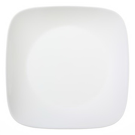 "CORELLE 1069961 Square Pure White 10.25"" Dinner Plate"