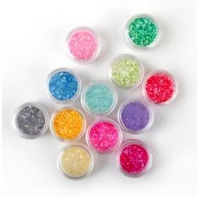 ALICE Nail Art Powder 12 Colors Dust Glitter Nail Tip Decoration, Halloween Makeup