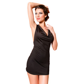 V-neck Nightclub Dress with Matching Thong