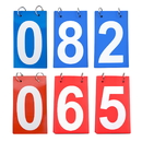 GOGO 6 Sets Score Reporter, Number Flip Chart for Scoreboard, 0-9 Double Sides