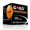 GOGO 3-Star 40mm Table Tennis Balls, Ping Pong Balls (10 Boxes, 1440 Balls)
