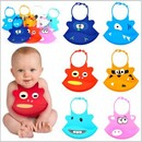 Cute Design Silicone Baby Bib, 9 1/2 Inch * 7 1/2 Inch, Long Leadtime
