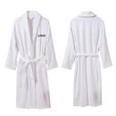 Custom Hotel Spa Cotton Terry Cloth Shawl Bathrobe Plush Robe, Long Leadtime