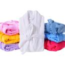 Opromo Unisex Hotel Spa Cotton Terry Cloth Shawl Bathrobe Soft Thick Plush Robe