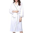 Opromo Lightweight Unisex Waffle Style Kimono Spa Robe Hotel Bathrobe Sleepwear