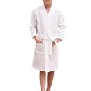 Opromo Blank Kids Cotton Waffle Kimono Robe Spa Hotel Bathrobe, Long Leadtime