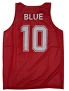 Customized TopTie Reversible Basketball Jerseys with Printed Numbers of Names, Mesh Tank, S-2XL, M01