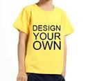 Opromo Custom Youth Round Neck Cotton Short Sleeve T Shirt, 5.3oz
