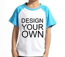 Opromo Custom Youth Cotton Short Sleeve Baseball Raglan, 5.3oz