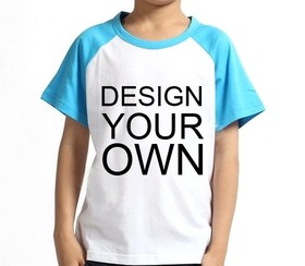Custom Youth Cotton Short Sleeve Baseball Raglan, 5.3oz, Price/Piece