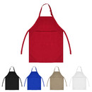 "Opromo 7.5 OZ. Bib Apron with Three Pockets, 25""W x 34.5""H"