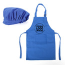 Custom Colorful Cotton Canvas Kids Aprons and Hat Set, Party Favors - Full Color Printing
