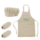 Custom Colorful Cotton Canvas Kids Apron, Chef Hat and Oversleeve Set, Party Favors - 1 Color Printing