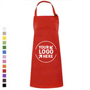 Custom Cotton Canvas Adjustable Chef Kitchen Apron with Two Front Pockets, 26 3/4