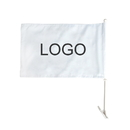 Custom 110G Polyester Rectangle Car Flag, Full Color, 1 Side, 16