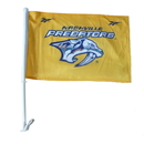 Custom 110G Polyester Rectangle Car Flag, Full Color, 1 Side, 14