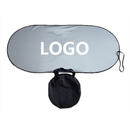 Custom Light Reflective Windshield Shade with Carry Case, 190T Polyester, 23 1/2