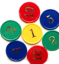 Promotional Sequentially Tokens, Plastic Material