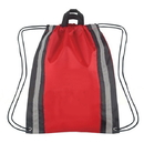 "Blank 210D Polyester Reflective Drawstring Backpack, 14"" W x 17.5"" H"
