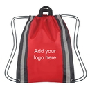 Customized 210D Polyester Reflective Drawstring Backpack - Long Leadtime, 14