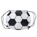 Customized Soccer Ball 210D Polyester Drawstring Backpack, 15.75