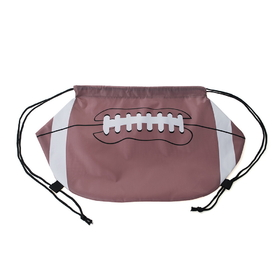 "Blank Football 210D Polyester Drawstring Backpack, 12""H x 20-1/2""W, Price/Piece"