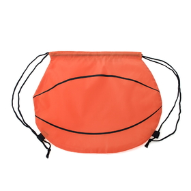 "Blank Basketball 210D Polyester Drawstring Backpack, 14""H x 15 3/4""W, Price/Piece"
