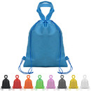 "Blank 80G Non-woven Drawstring Backpack with Carry Handle, 16.5""H x 13""W"