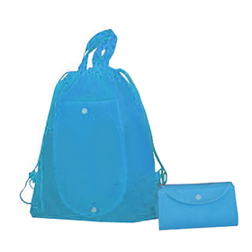 """Blank 80G Non-woven Foldable Drawstring Backpack, 16.5""""H x 13""""W, Price/Piece"""
