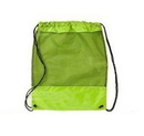 "Blank 210D Nylon Drawstring Mesh Backpacks, 15"" w x 16.5"" h"