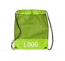 Customized 210D Nylon Drawstring Mesh Backpacks, 15