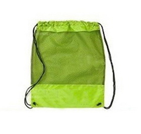 "Blank 210D Nylon Drawstring Mesh Backpacks, 15"" w x 16.5"" h, Price/Piece"