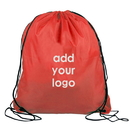 Customized 210D Polyester Drawstring Backpack, 14