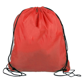 "Blank 210D Polyester Drawstring Backpack, 14"" W x 16"" H, Price/Piece"