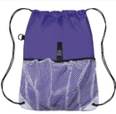 "Blank 210D polyester Sport Mesh Backpack, 12"" W X 17.75"" H"