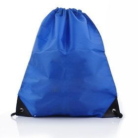 "Blank 210D Polyester Drawstring Bags, 13 1/2"" H x 15 3/4"" W, Price/Piece"