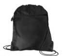 Blank 210D polyester Drawstring Backpack with front pocket, 14