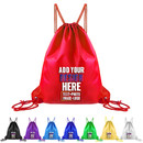 Custom 210D Nylon Drawstring Backpack, 13