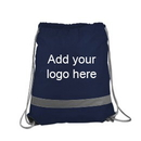 Customized 190T Polyester Reflective Drawstring sport pack, 14-1/2