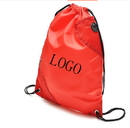 Customized 210D Polyester Drawstring Backpack with Mesh Pocket, 13.5