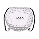 Customized Golf Ball 210D Polyester Drawstring Backpack, 14